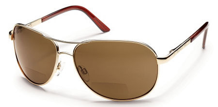 Aviator Reader in Gold with Polarized Brown 2.0 Lens