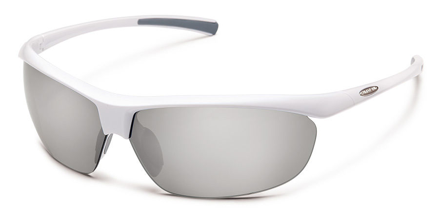 Zephyr Sunglasses in White with Polar Silver Mirror Lens