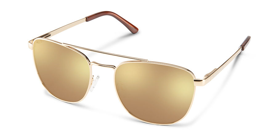 Fairlane Sunglasses in Gold with Polar Sienna Mirror Lens